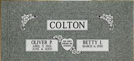 A companion marker for Oliver and Betty Colton