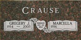 A companion marker for the Crause couple