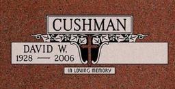 A companion marker for David Cushman