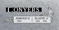 A companion marker for the Conyers