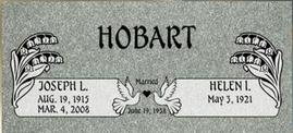 A companion marker for Joseph and Helen Hobart