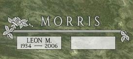 A companion marker for Leon Morris