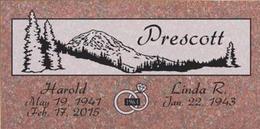 A companion marker for the Prescott couple