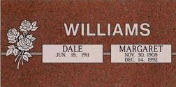 A companion marker for the Williams couple