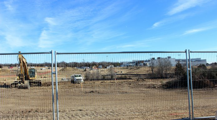 The Osage Casinos-Tulsa stands in the background as construction crews ready the grounds for the expansion on Jan. 3. CHALENE TOEHAY-TARTSAH/Osage News