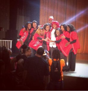 Monique Williams and the step team of the Delta Iota Chapter won Grambling's 2014 Homecoming Greek Step Show