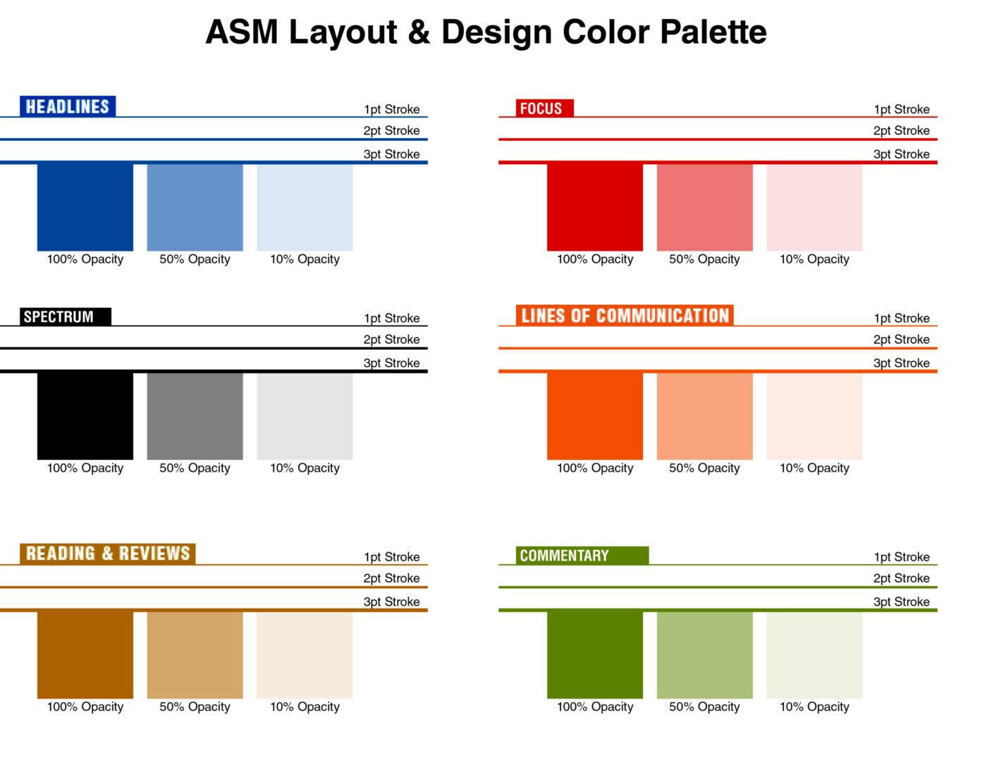 ASM Layout & Design Color Palette