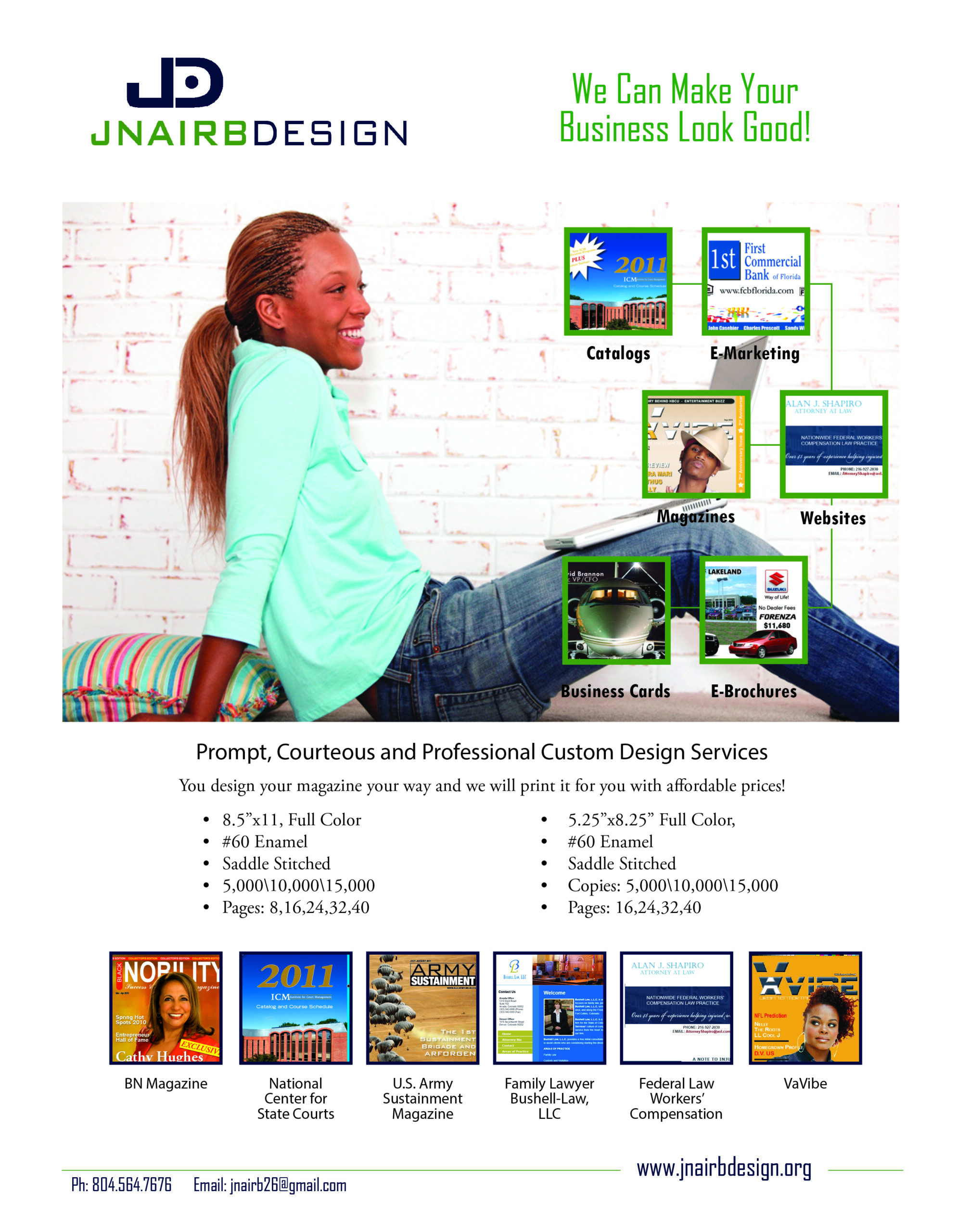 Prompt Courtous Professional Custom Design Services