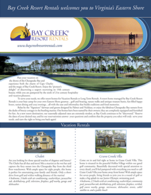 Bay Creek Resort Rentals