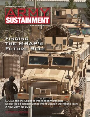 Sept. Oct. 2011 Army Sustainment Magazine