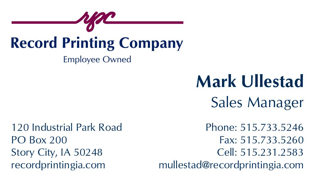 Record Printing Company