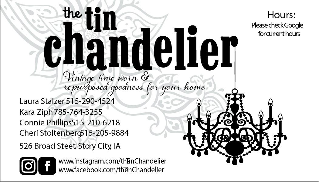 Tin Chandelier