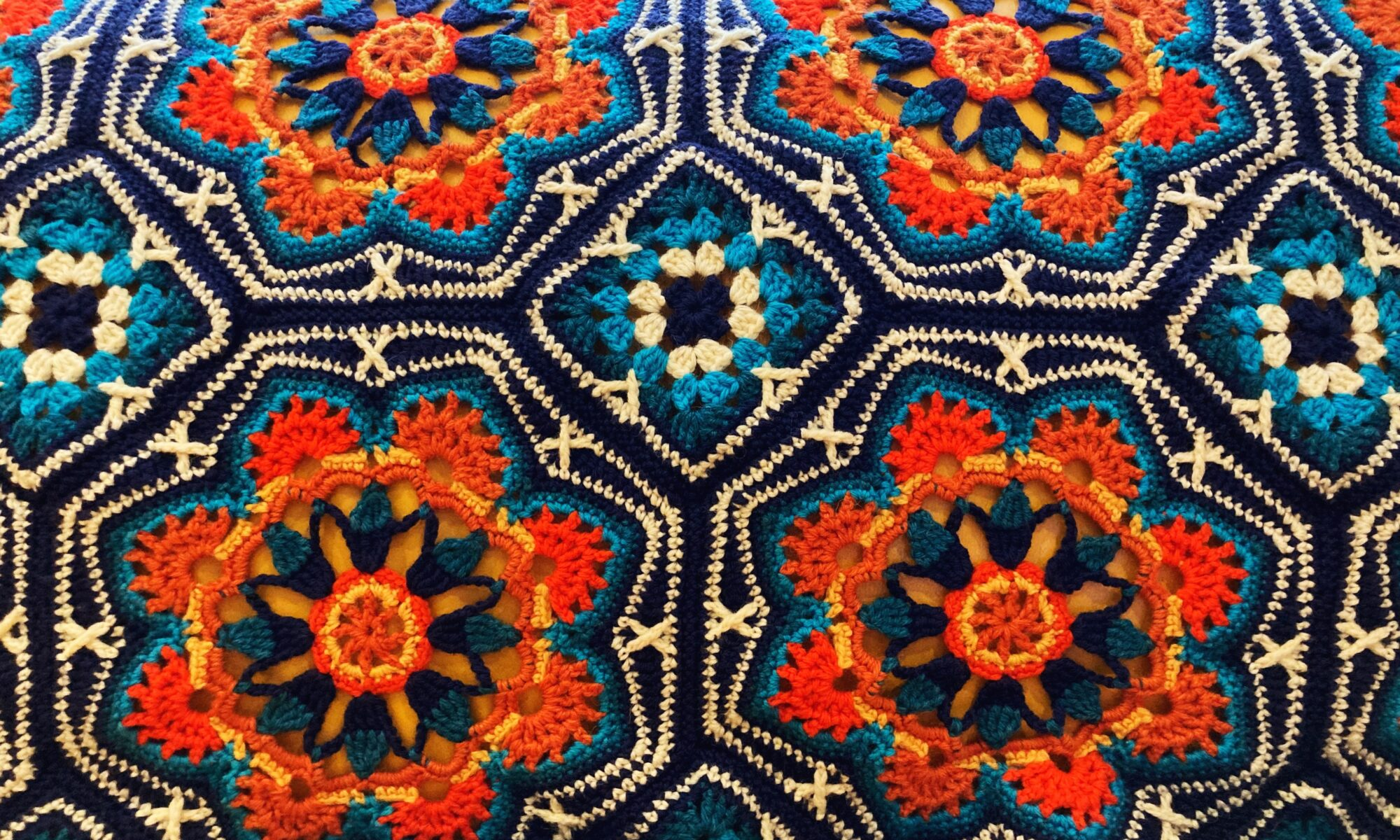 Detail on crochet tile