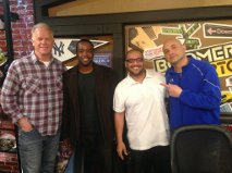 Boomer Esiason, Nick Rodriguez, Clifton Bartley and Craig Carton