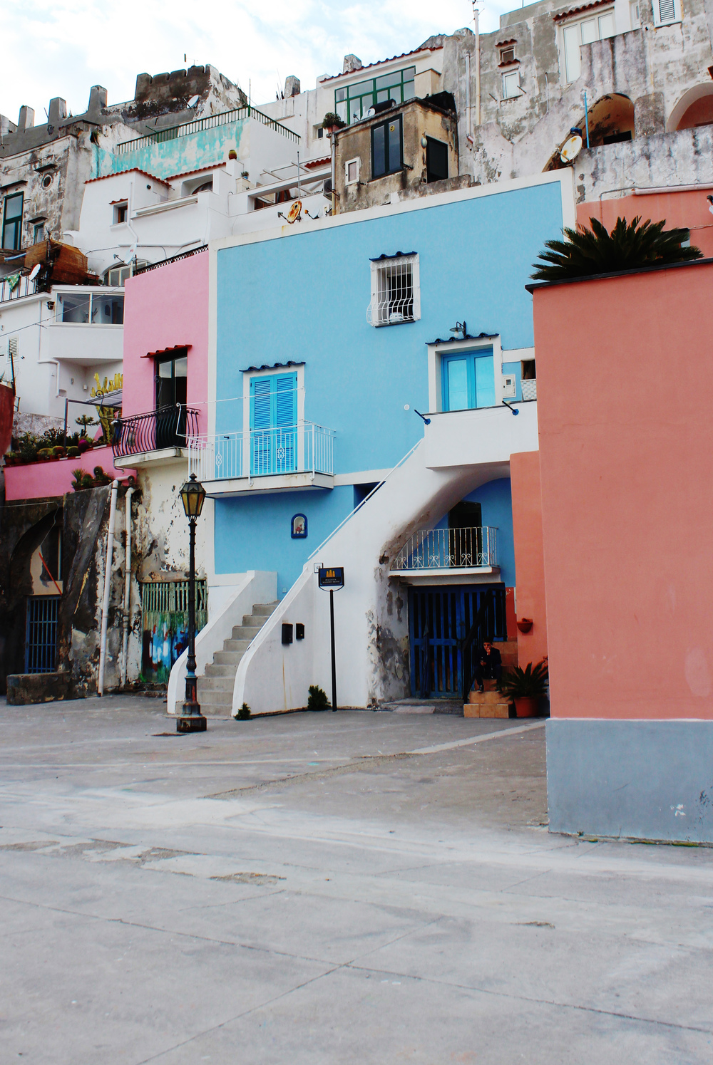 italy colourful islands procida houses