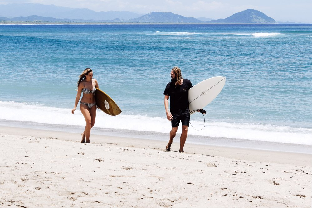 bree warren mitch mccann surfing Chacahua mexico