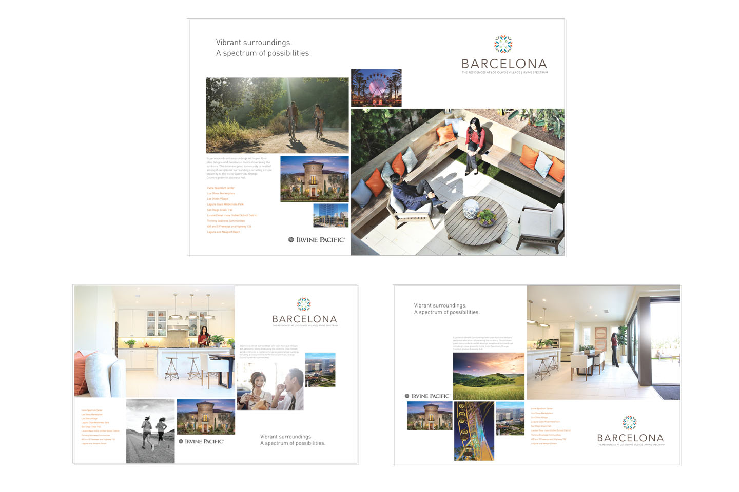 Residential development brand logo and collateral campaign