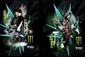 Monster Energy Winter X Games with Tucker Hibbert outdoor campaign