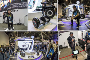 Segway and Ninebot at CES Show in Las Vegas