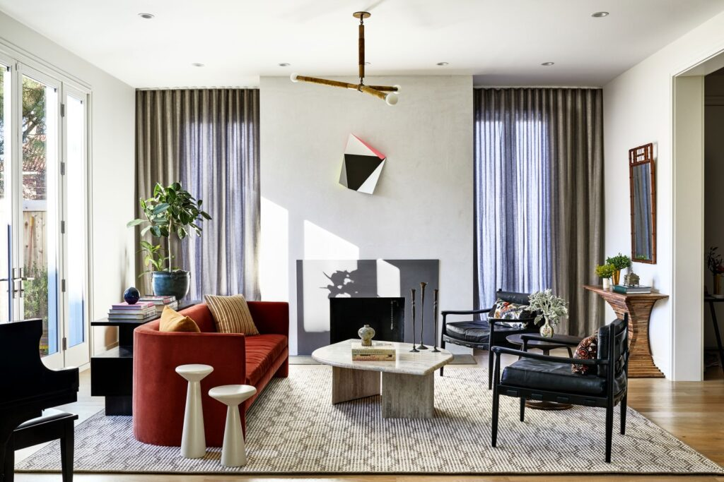 Image of a living room from Architectural Digest
