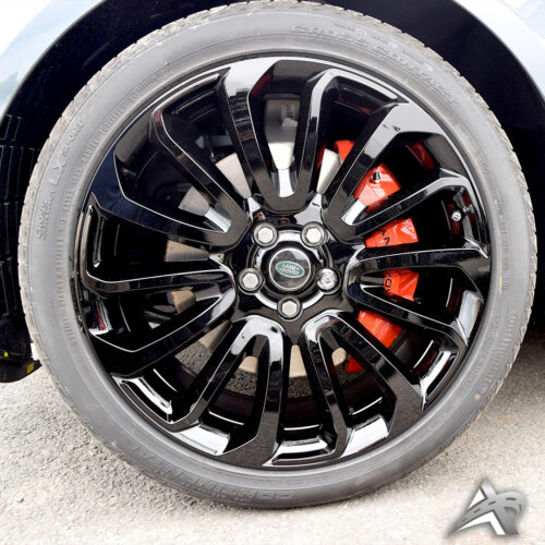 Glossy Black Painted Rims