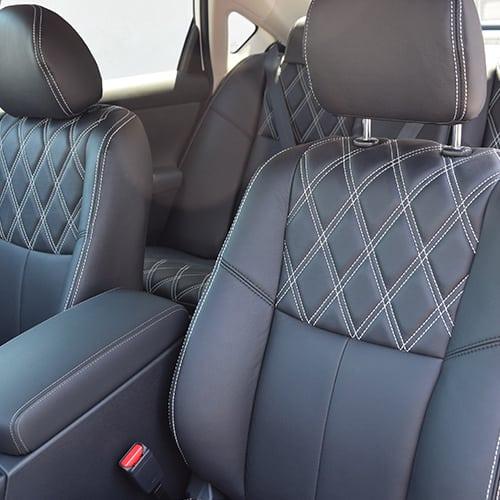 diamond stitch leather interior