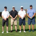 Sam Bruce Jim and Andrew at the 2021 SV Golf Outing