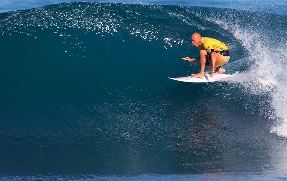 surfer in yellow gear