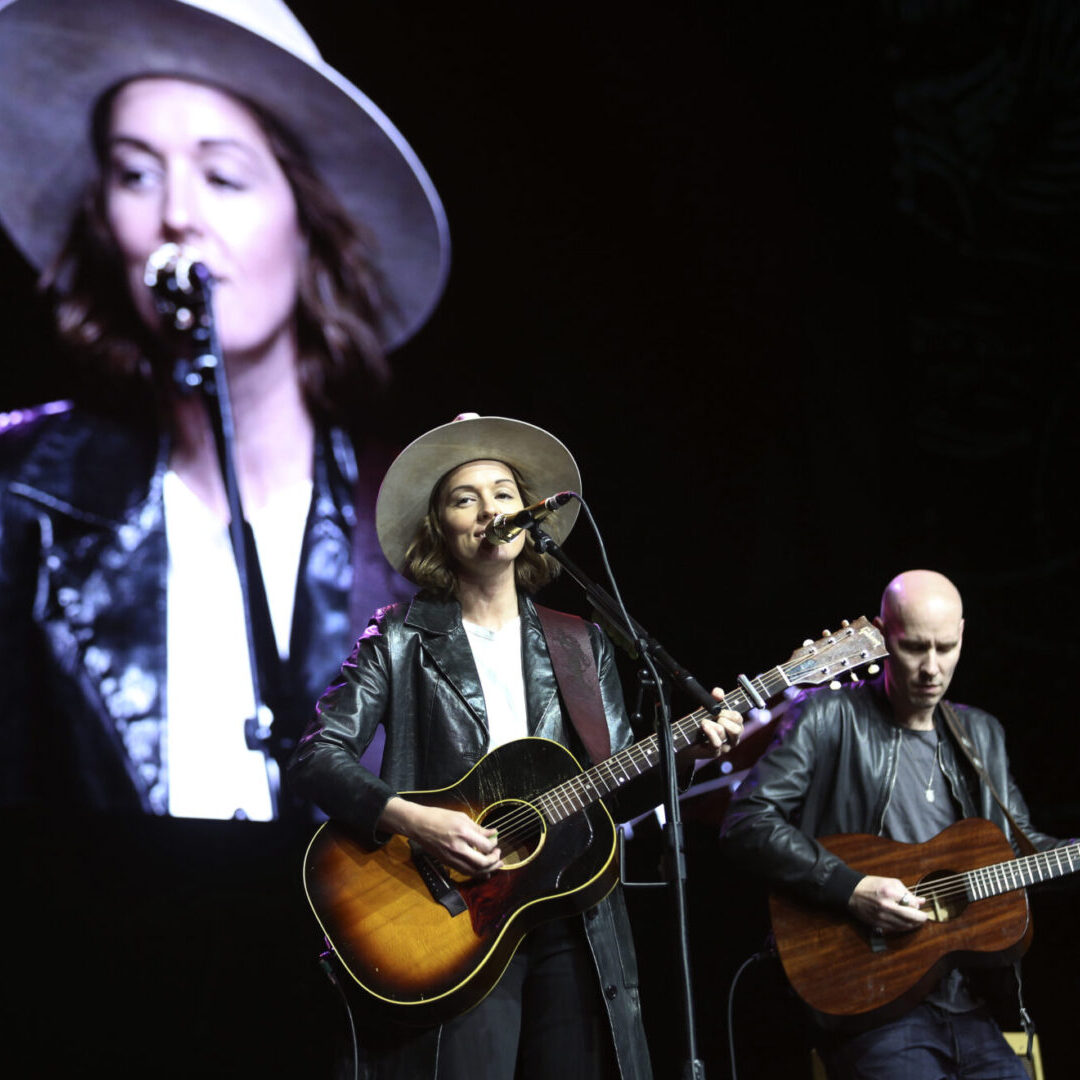 Grammy winning musician Brandi Carlisle, from Black Diamond, Washington, performs as the surprise guest musician during the Starbucks Coffee Company's 27th annual shareholders meeting, at WAMU Theater in Seattle, March 20, 2019.  Photo by Anthony Bolante | PSBJ
