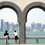 Picture to illustrate Doha. It's a picture of Westbay area which is an nice area to Rent an Apartment in Doha