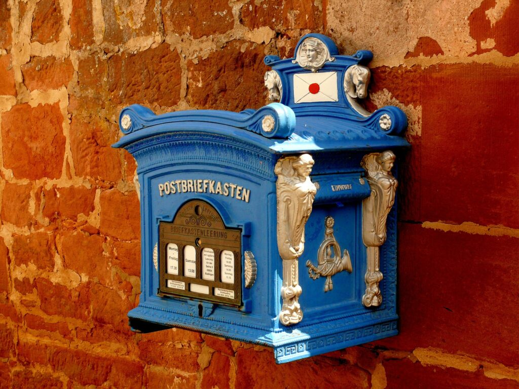 Mailbox to illustrate that you need to write us to order