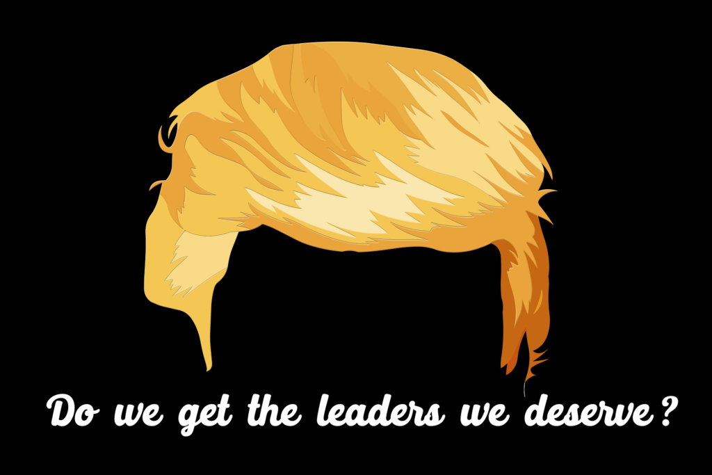 To illustrate Donald Trump as the wrong leader.