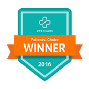 2016 PREMIERE PHYSICAL THERAPY SELECTED PATIENT'S CHOICE WINNER