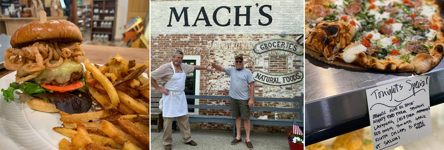 Mach's Market, Pawlet VT - fresh food market, butcher shop, smokehouse, wood fired pizza