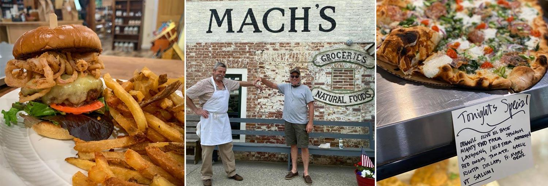 Mach's Market, Pawlet VT - fresh food market, butcher shop, smokehouse, wood fired pizza