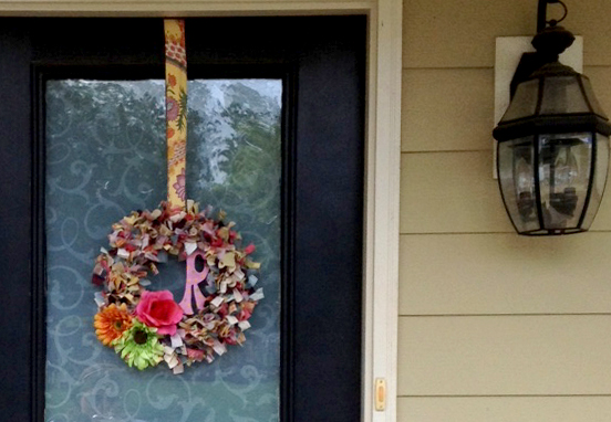 U-Fabricate – Shaggy Raggy Wreath DIY