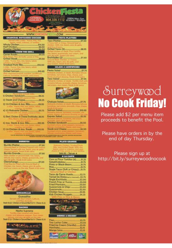Surreywood No Cook Friday
