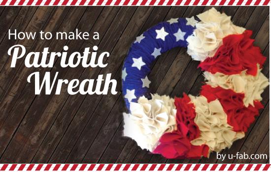 U-Fabricate – Red, White & Burlap Wreath DIY