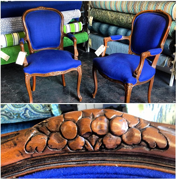 Blue Italian Occasional Chairs