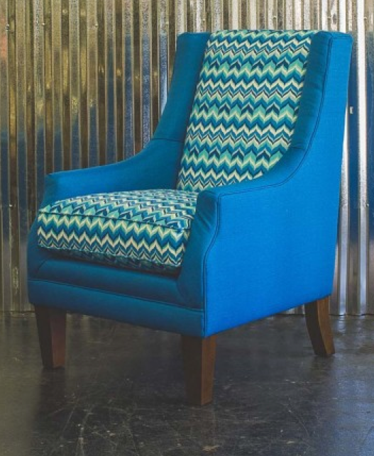 Furniture backs add high contrast!