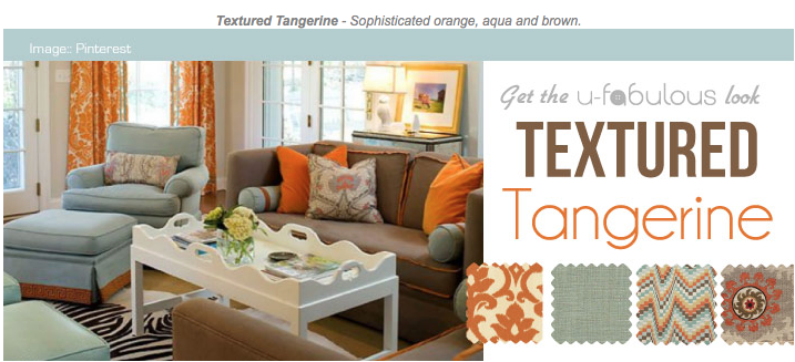 Ufabulous Design Room: Textured Tangerine