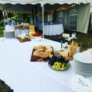 island girl catering. private chef. off-site catering. garden wedding reception. Westerly, RI