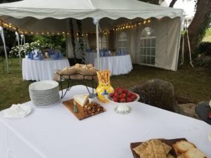 islandgirlcatering. wedding tent. wedding dinner. wedding buffet. cheese platter. hors d'oeuvers. local. farm fresh. catering. chef