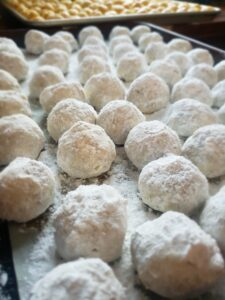 island girl catering from scratch snowball tea cakes