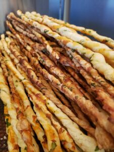 Island Girl Catering parmesan pastry twists