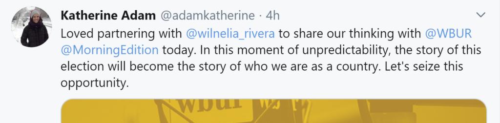 Katherine Adam's tweet
