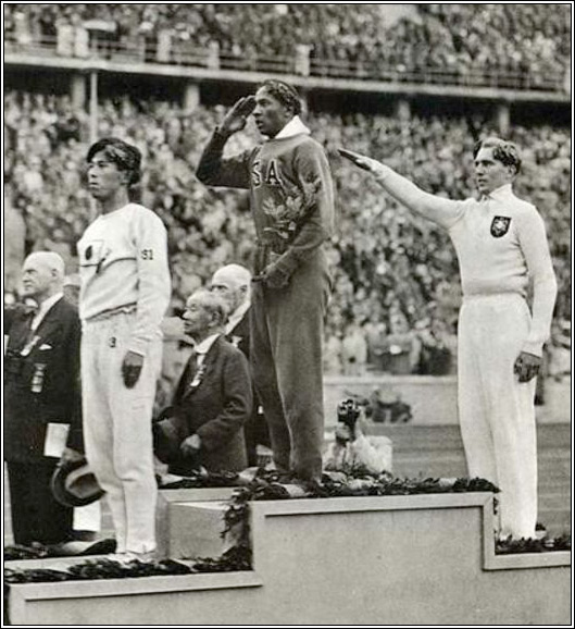 Jesse Owens at Olympic Games in Berlin
