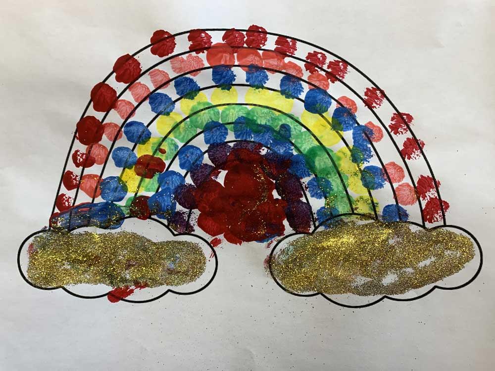 Child's artwork - rainbow