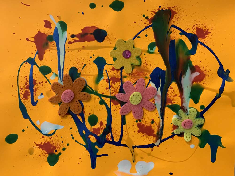 child's drawing - Flower Explosion