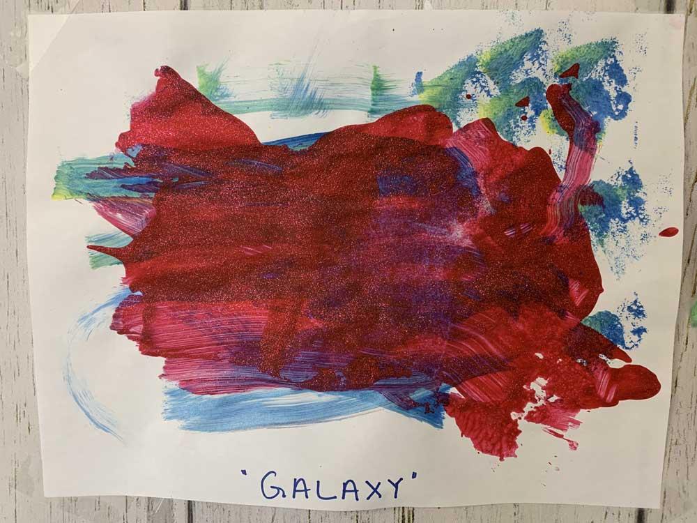 Child's artwork - Galaxy